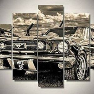 Other - Classic Mustang - 5 Panel Canvas Wall Print Framed